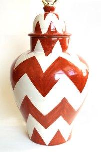 Burnt Orange ZigZag Lamp - $185