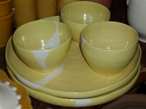 Lemon Yellow Bowls and Platters