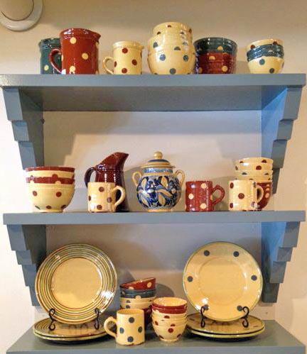 polka dot ceramics