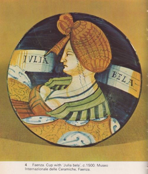 fine Italian ceramic loving cup